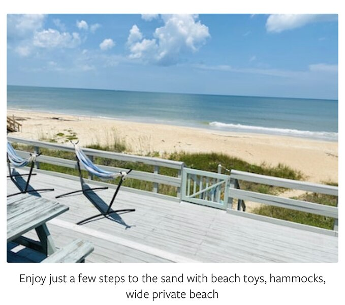"""Serenity Shores Oceanfront Private Home on 100"""" frontage. Deck/ 12 steps to sand, alquiler vacacional en Ponte Vedra Beach"""
