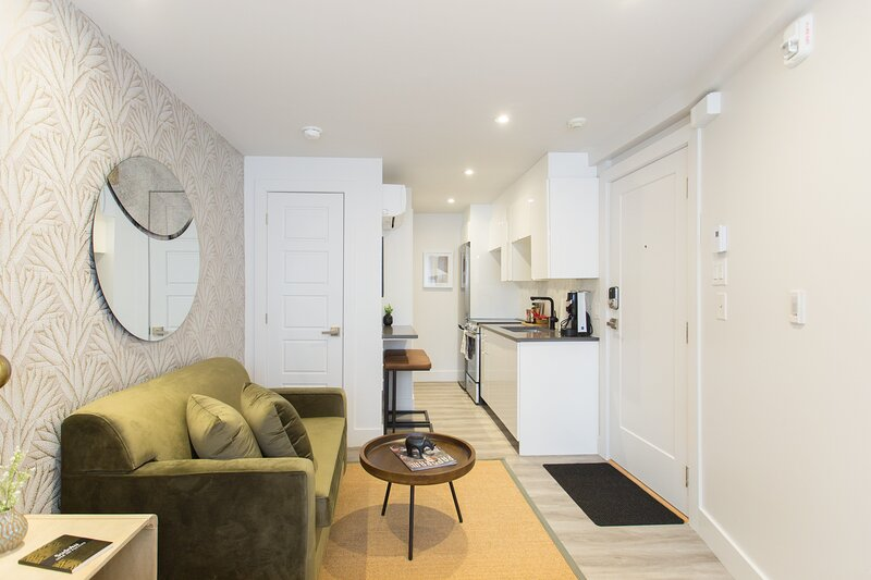 Serene and Styled Little Italy Studio full bath by Den Stays, holiday rental in Mont-Royal