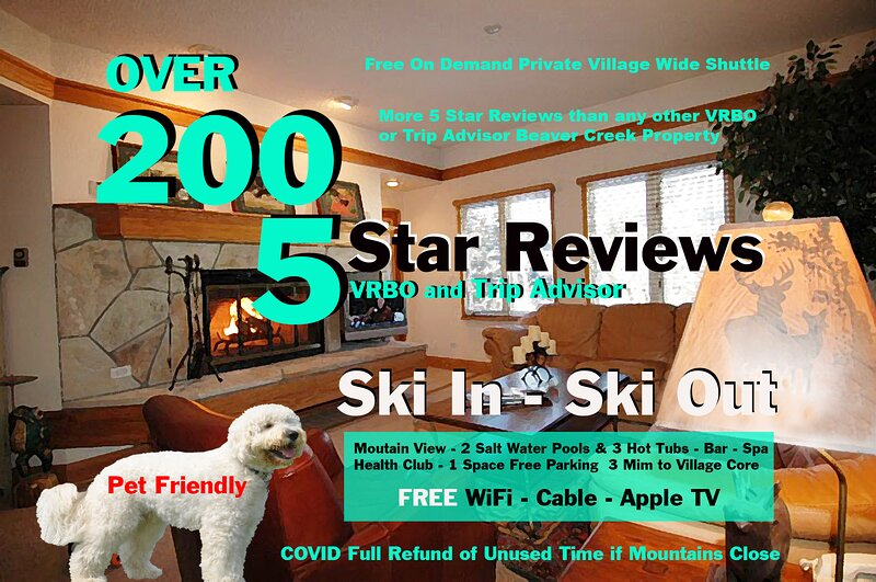 SKI IN/OUT Mtn View Beaver Crk Lux Resort with 2 Bdm 2 Bath   200 Star Reviews, holiday rental in Beaver Creek