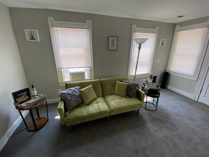 Free wine with Comfy rental 5 mins from DwnTwn CLE, alquiler de vacaciones en Cleveland