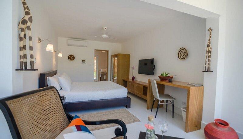 Bedroom in beachfront resort, Dominican meals available, vacation rental in Gaspar Hernandez