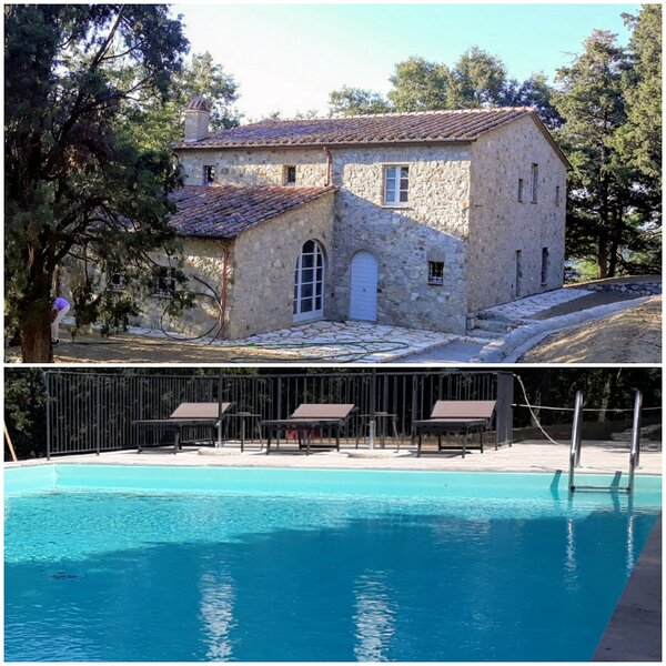Villa Lucarella with Pool, Air Con, Wifi - San Casciano dei Bagni (Siena), holiday rental in San Casciano dei Bagni