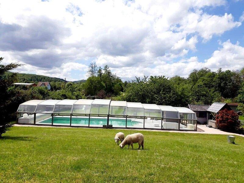 Meublé 3* Les Papillons de la Bruche (piscine chauffée avec dôme,sauna,jacuzzi), holiday rental in Dahlenheim
