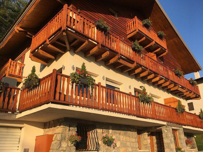 Valberg Appt de charme Vue panoramique montagne Quartier calme à 300m des pistes, vacation rental in Puget-Theniers