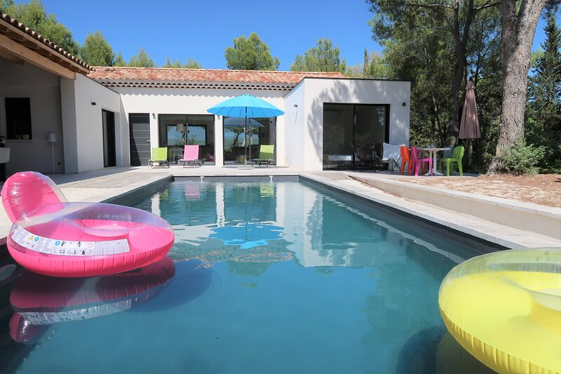 Fabulous Mont Ventoux view, Mazanel design house, pool, Air conditioning, holiday rental in Mazan