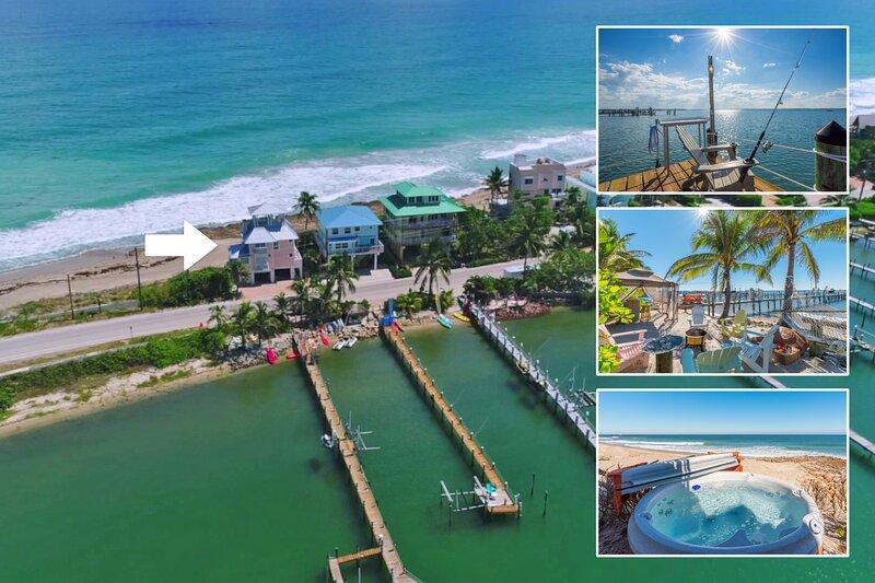'As Good as it Gets':  The 5-Star FL Beach House ON the beach. Ocean+River+Dock!, alquiler vacacional en Hobe Sound