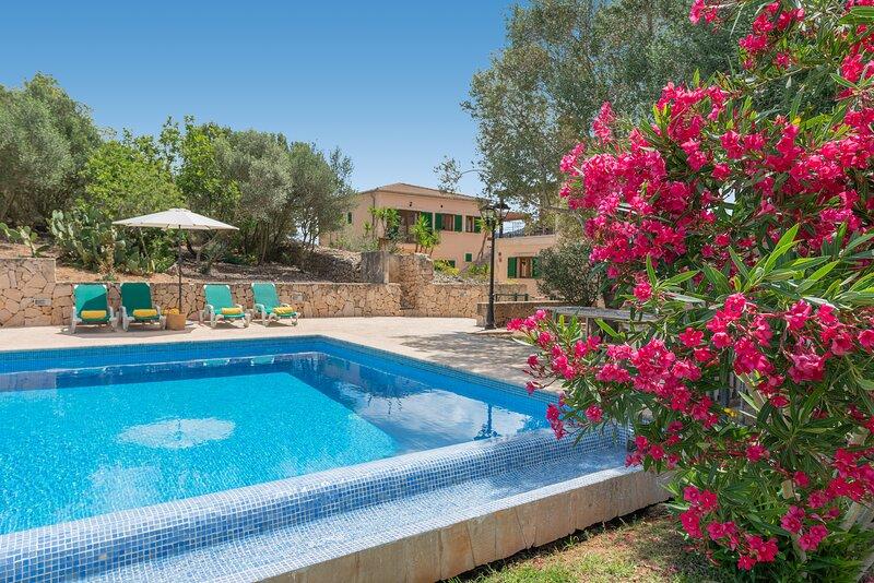 ¡Ideal villa privada Es Puig des Call con piscina para 18 personas!, vacation rental in Felanitx