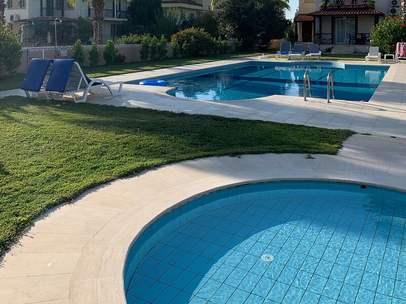 View of baby pool and main pool from apartment