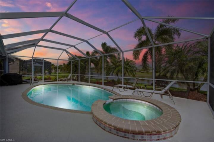 Enjoy SW Florida's beautifully painted skies while you swim and relax in your own private pool and spa.