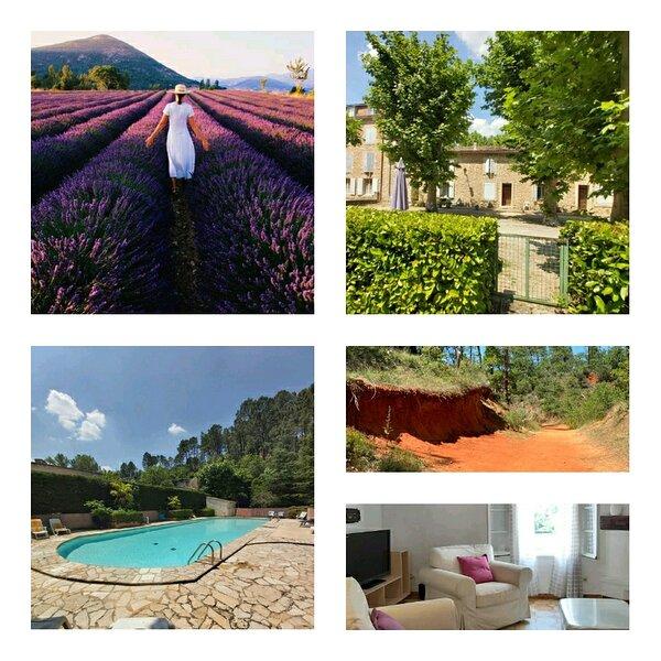 appartement en résidence avec piscine dans le Luberon au pied du colorad, casa vacanza a Caseneuve