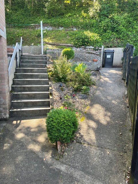 Steps or slope to access the flat