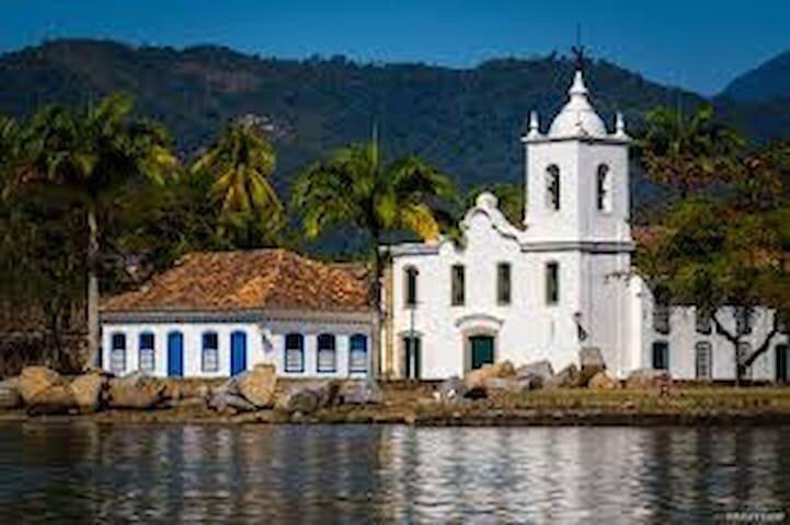 Ponto Histórico de Paraty - Casa Frente ao Mar, holiday rental in Paraty Mirim