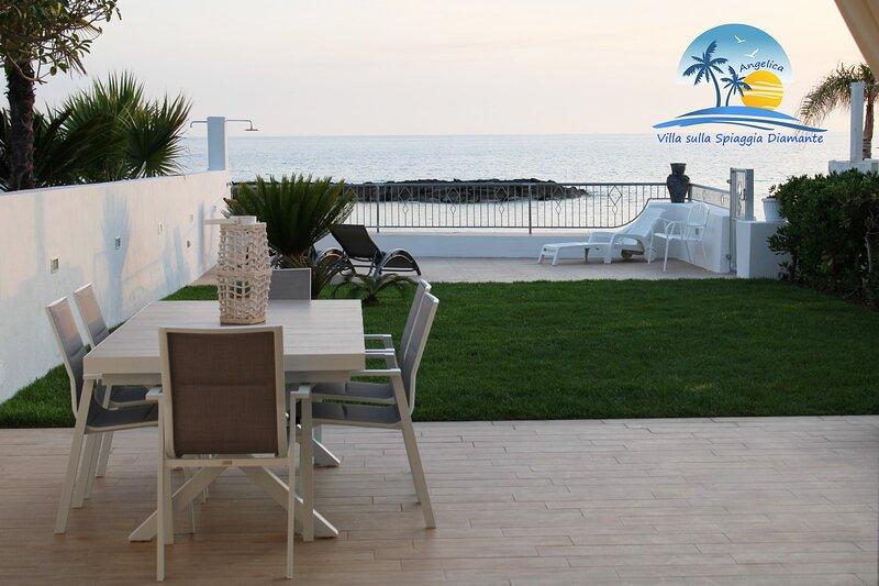 Villa sulla spiaggia Diamante, casa vacanza a Grisolia
