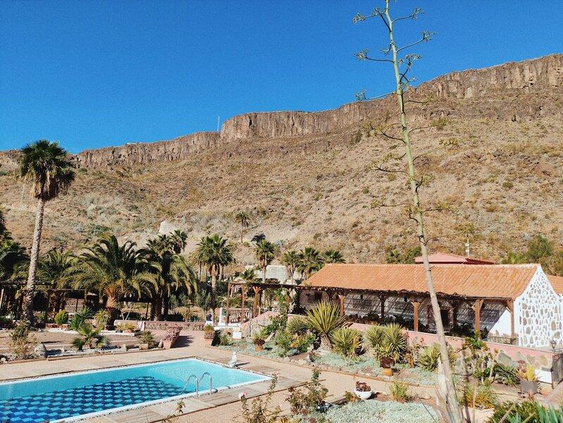 Rural House with pool in Ayagaures Maspalomas, holiday rental in Cercados de Espinos