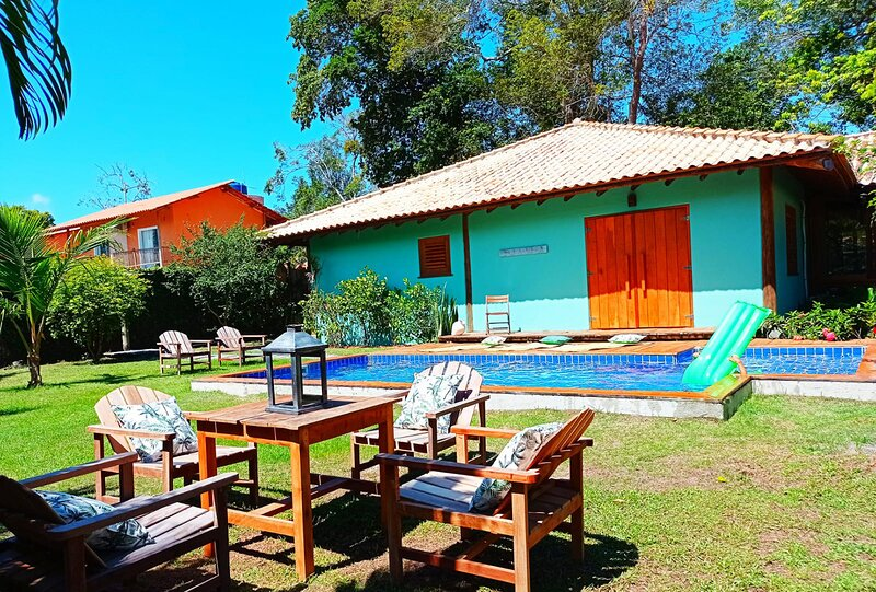 Casa com piscina com hidromassagem em Trancoso/BA, vacation rental in Caraiva