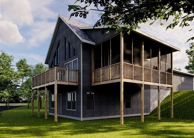 NEW Construction! 5 bedroom home on the sandy shore of Lost Lake!, vacation rental in Sayner