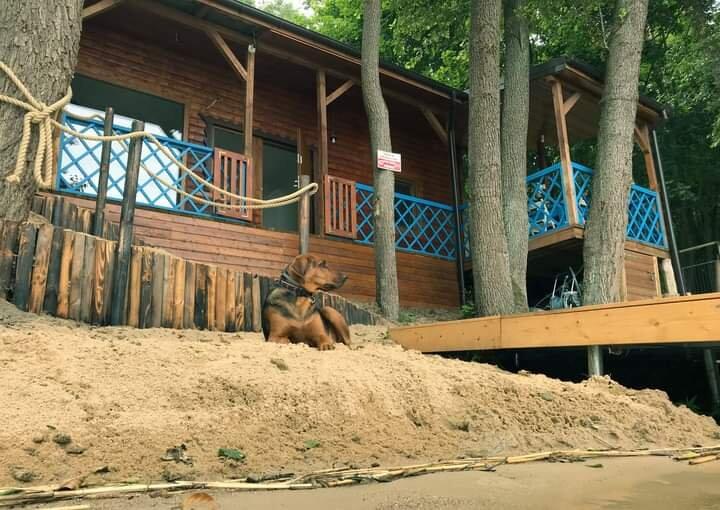 Dom z dostępem do jeziora. Siemiany, casa vacanza a Maldyty