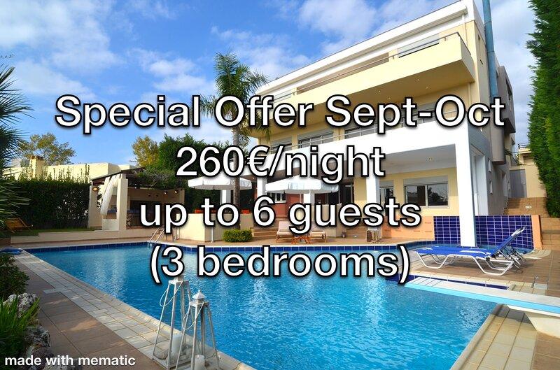 Luxurious Residence in Saronida seaside resort with private swimming pool, holiday rental in Saronida