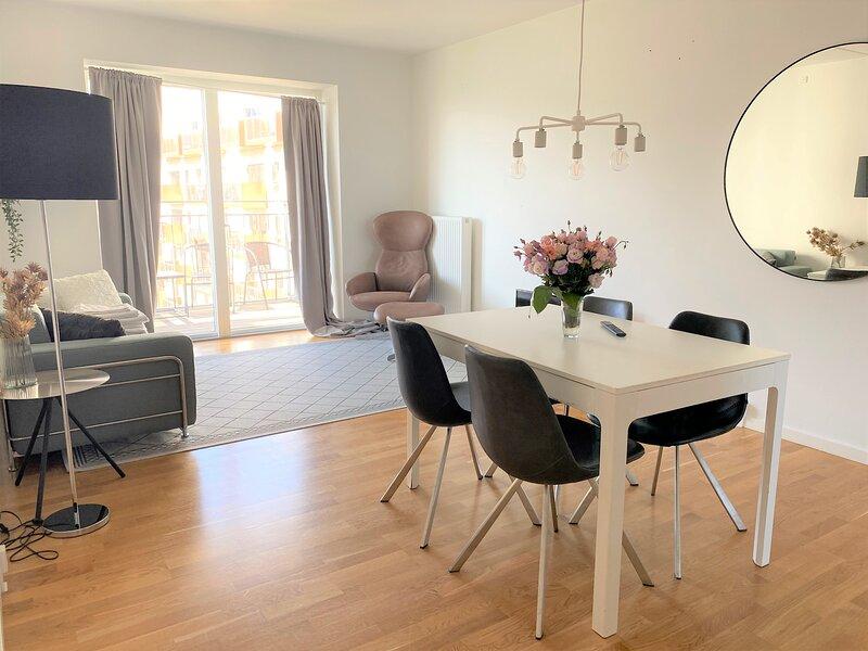 Modern 1-bedroom Apartment with a Balcony in Copenhagen Orestad – semesterbostad i Skanor