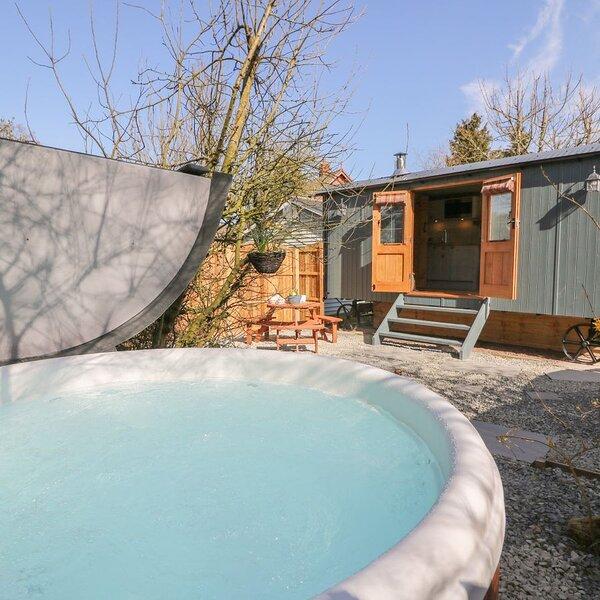 Tynewydd Cwt Shepherd's Hut in Penybont, location de vacances à Llandrindod Wells