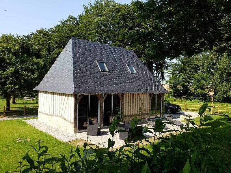 Gîte Normand de charme les châtaigniers 2 chambres colombages, location de vacances à Sausseuzemare-en-Caux