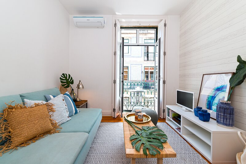 Comfortable living room with AC and wifi
