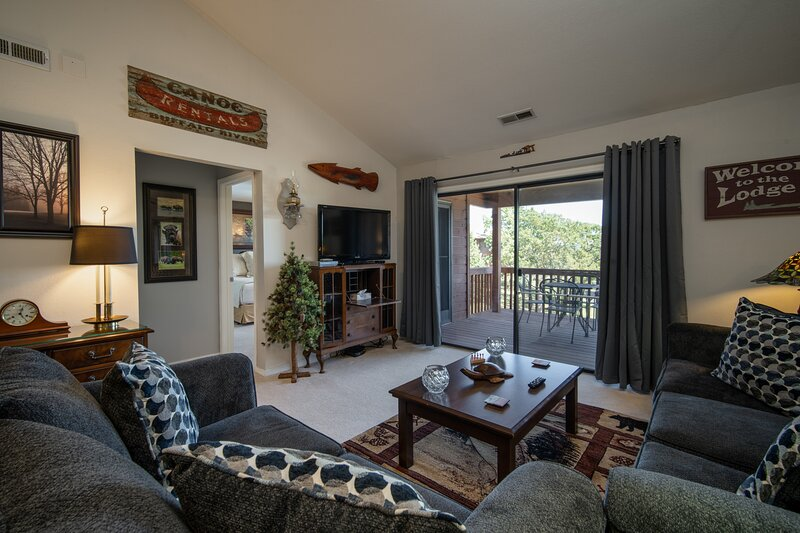 Comfortable Living Room with Balcony Access