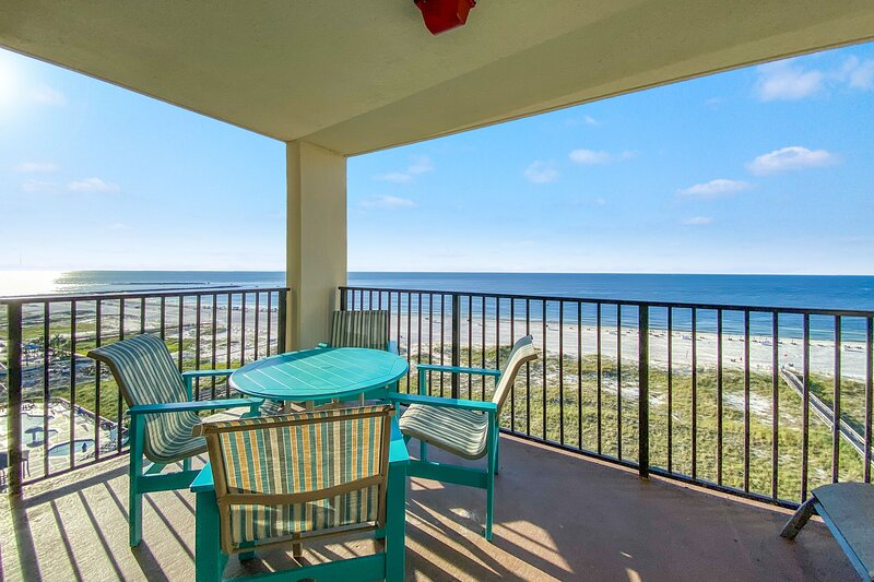 Private Balcony view overlooking the gulf