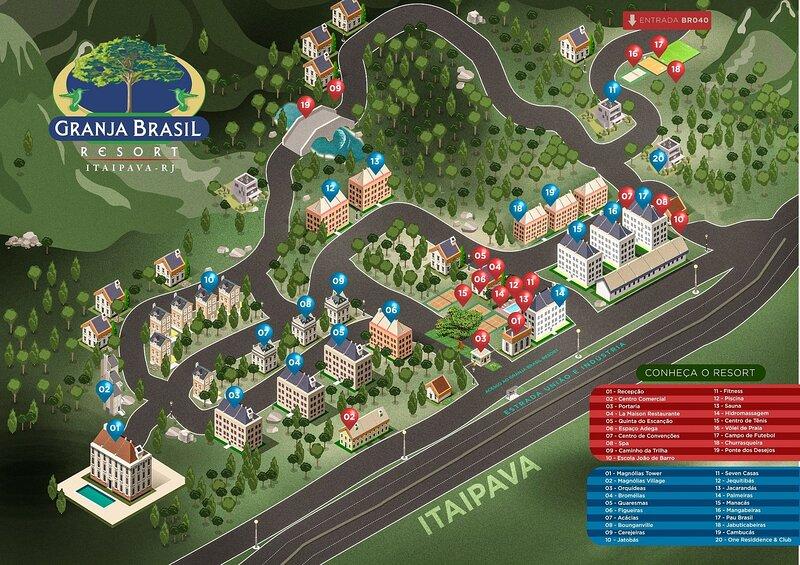 Apartamento 2 suítes Resort Granja Brasil, Itaipava, aluguéis de temporada em Paty do Alferes