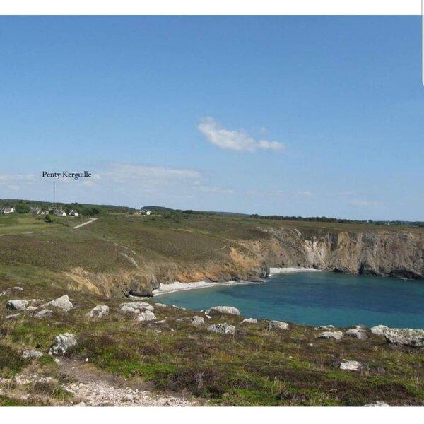 Chaleureux Penty, bord de mer, Pointe de Dinan, Crozon, aluguéis de temporada em Morgat