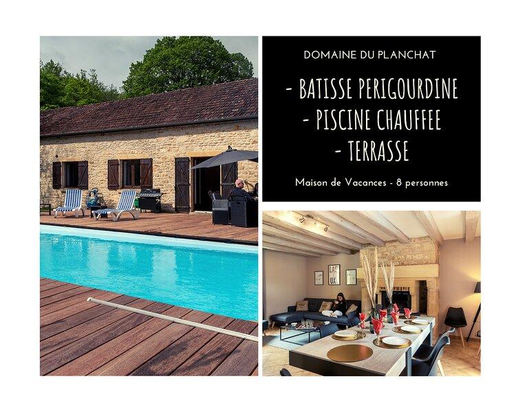 BATISSE PERIGOURDINE - PISCINE CHAUFFEE - 8 PERS., vacation rental in Saint-Amand-de-Coly