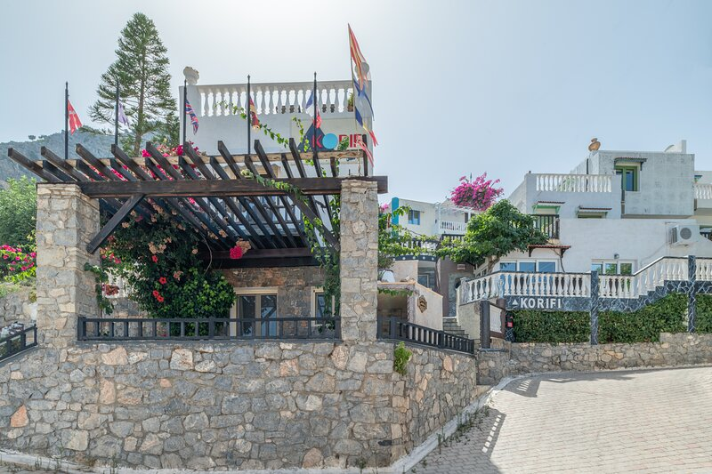 Standard big room apartment in blue Aegean with shared pool, kitchen and Ac, casa vacanza a Koutouloufari