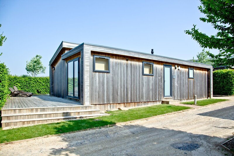 Amber Lodge, Strawberryfield Park - A large one bedroom lodge with private deck, alquiler de vacaciones en Cheddar