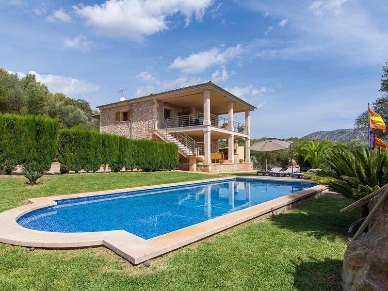 Villa Ullastre. Incredible villa with pool close to Pollença, aluguéis de temporada em Sa Pobla
