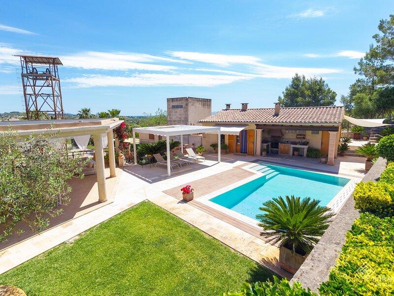 Sa Mina. Spectacular finca with private pool Selva., casa vacanza a Caimari
