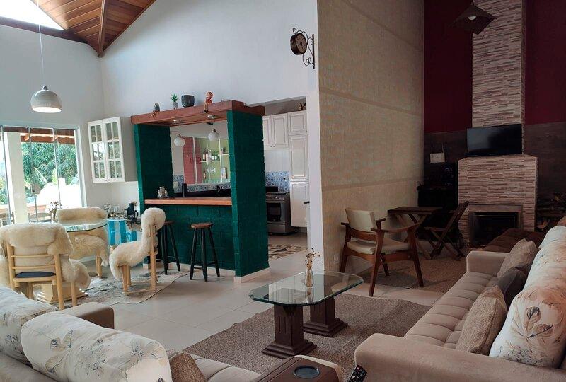 Chácara c lazer completo em Tuiuti, interior de SP, aluguéis de temporada em Lindóia