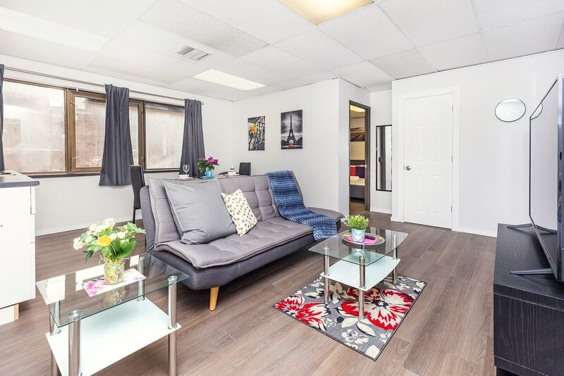 Newly-Renovated - Modern 1BR with King Bed, Near Downtown Ottawa!, location de vacances à Stittsville