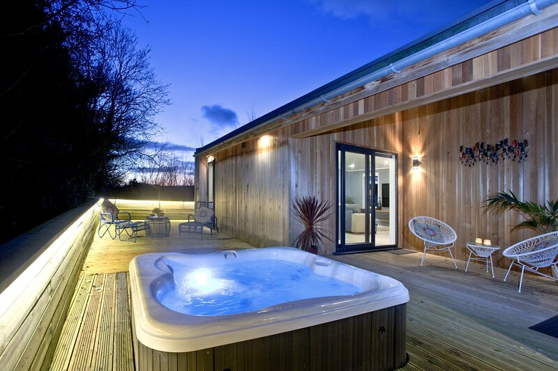 The Levels, Strawberryfield Park - A stylish architect designed lodge with a sta, alquiler de vacaciones en Cheddar