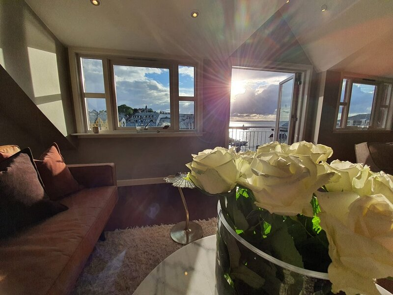 Sunny penthouse with sea view in the center of Ålesund, SkySuite., casa vacanza a Møre og Romsdal