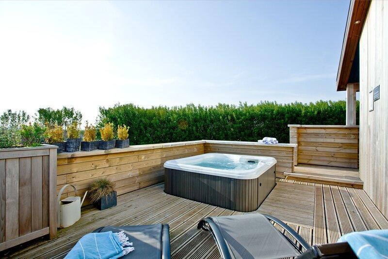 Pomegranate, Strawberryfield Park - A beautiful eco-lodge with stylish furnishin, alquiler de vacaciones en Cheddar