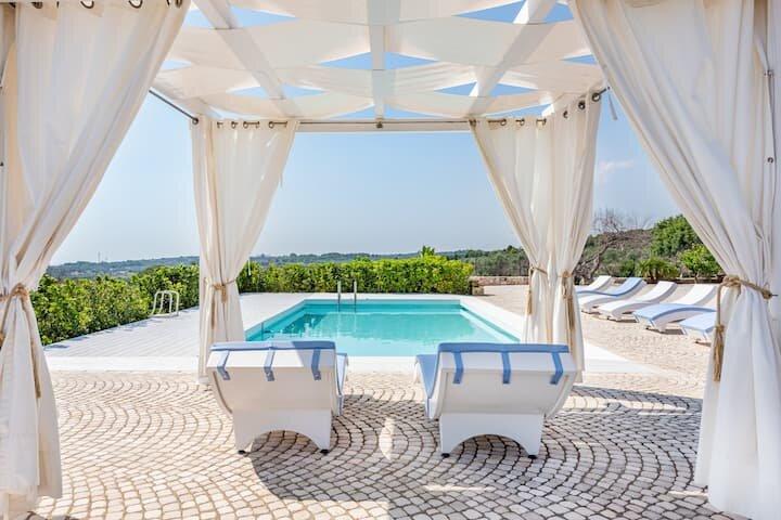 Villa Manuela CAMERA PORPORA Relax & Sea, aluguéis de temporada em Marina di Felloniche