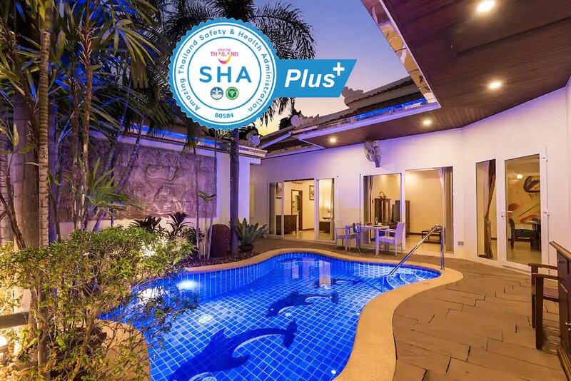 Village Austria - SHA+ 5Star Luxury Private PoolVilla 3BR Pratamnak 50m to beach, aluguéis de temporada em Pattaya