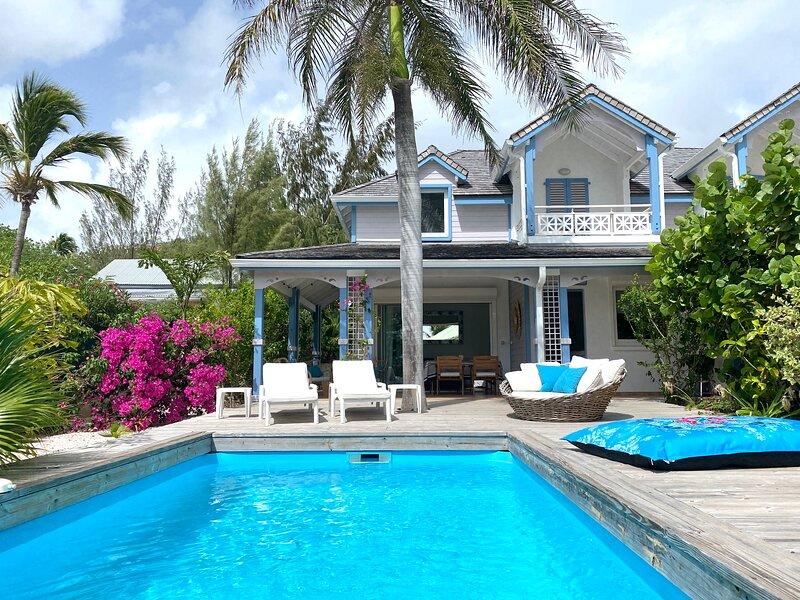 Villa MOJITO, charming 2 bedrooms, steps from the beach, private pool, aluguéis de temporada em Orient Bay