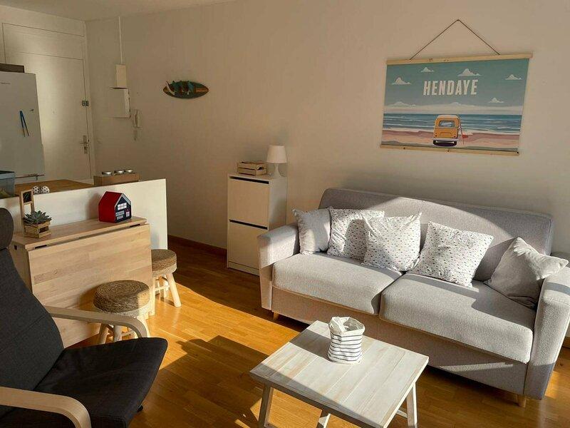 CHARMANT 2 PIECES AVEC PARKING AU CENTRE-VILLE, vacation rental in Biriatou