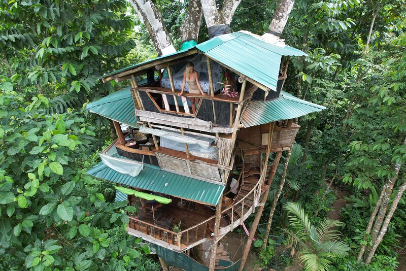 Corcovado Treehouse in Rainforest near remote Beaches sleeps 8 Guests, holiday rental in Corcovado National Park