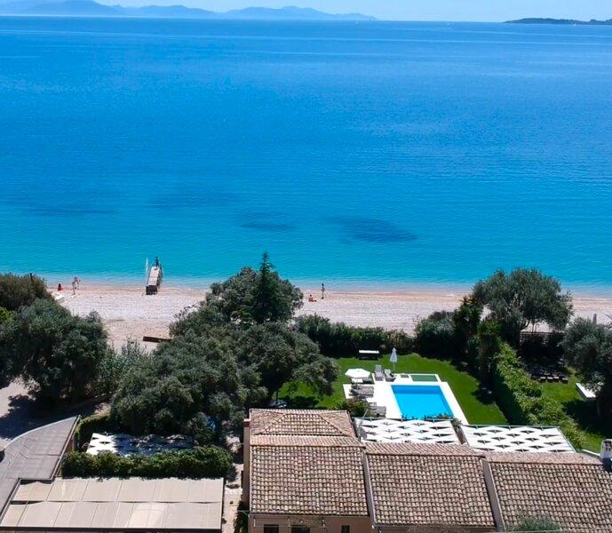 Barbati Seafront Pool Villa, holiday rental in Barbati