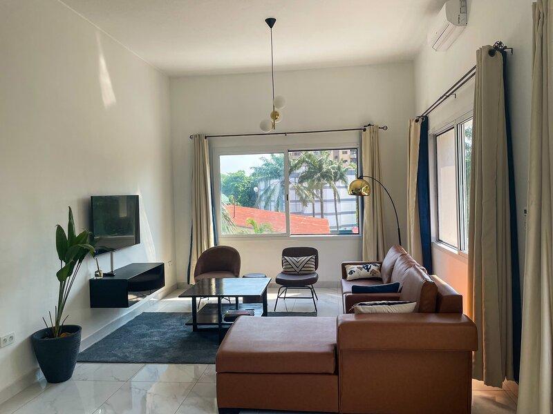 Superbe appartement récemment rénové à la Gombe, holiday rental in Cuvette-Ouest Department