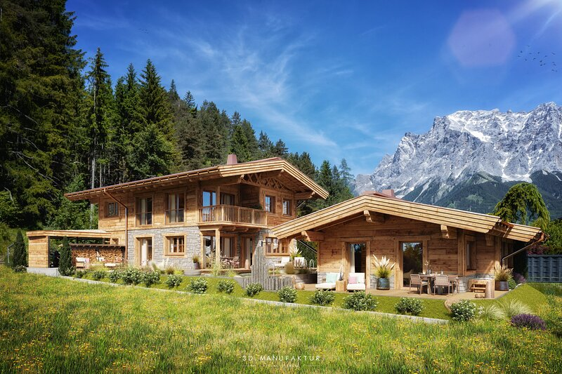 Luxus Chalet - Adults only - 3 Schlafzimmer mit privatem Naturbadeteich, vacation rental in Wildermieming