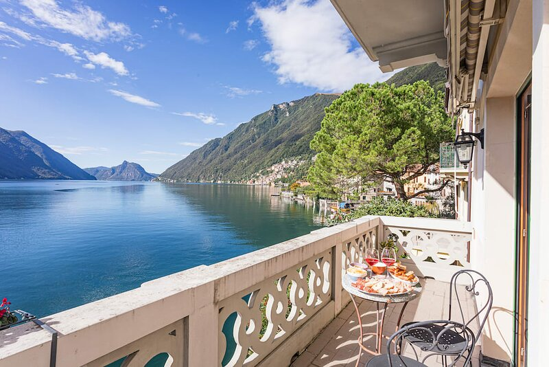 Lake Lugano 1 bedroom apartment, holiday rental in Valsolda