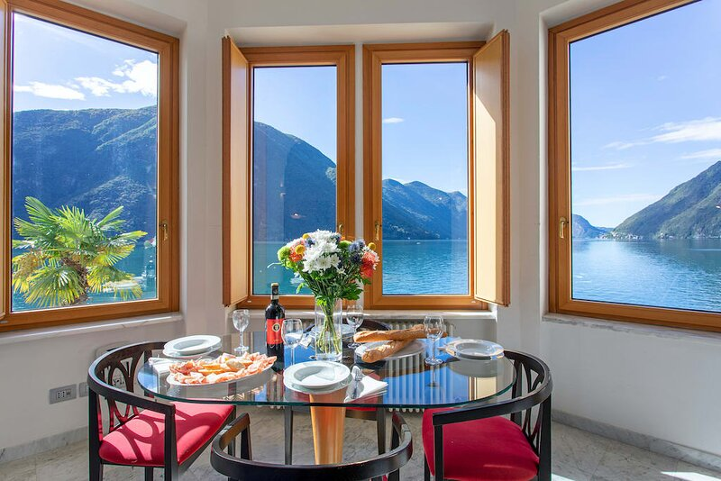 Lake Lugano 1 bed apartment with balcony, holiday rental in Valsolda